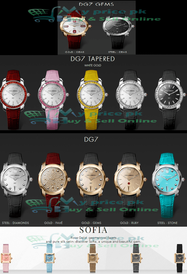 Best Products of DOLCE & GABBANA Ladies/Female Watches Price in Pakistan with Specs Shape