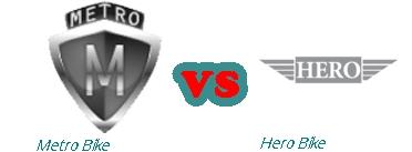 Hero Motorbike New Model 2016 vs Metro Motorcycle New Model 2016 Specs Feature Shape Price