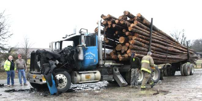 Semi Catches Fire While Hauling Load