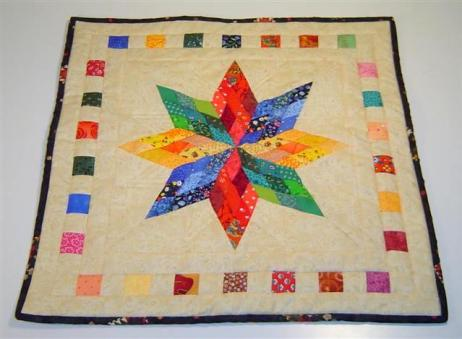 Nine Patch Diamond Star quilt