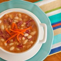 Crock Pot White Bean and Ham Soup