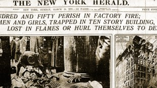 Triangle Shirtwaist Fire Newspaper Cover