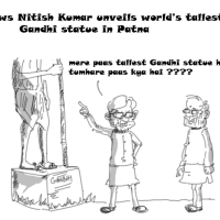 Nitish Kumar unveils world's tallest Gandhi statue in Patna