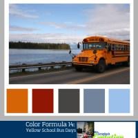 Color Formula 14: Yellow School Bus Days-color palette