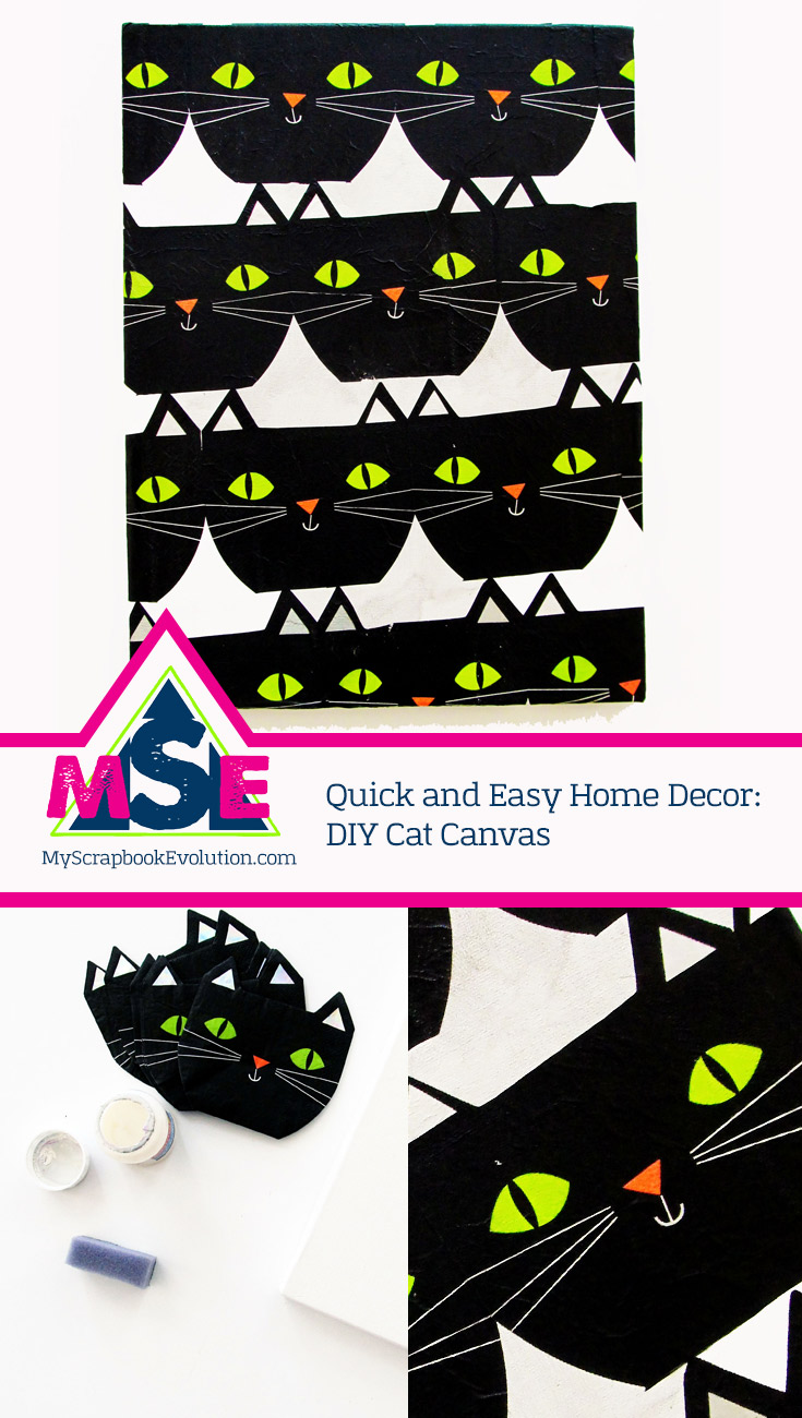 Quick and Easy Home Decor: DIY Cat Canvas