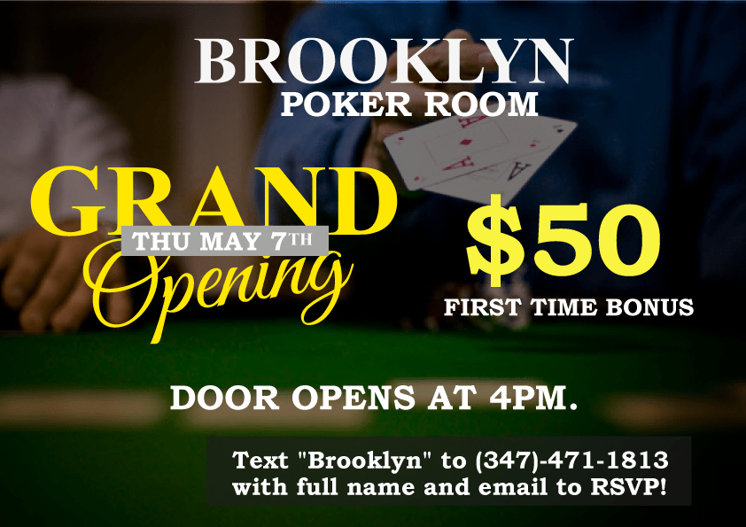 Brooklyn poker tables