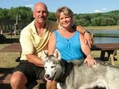 Mystic Waters Resort hosts, Bill and Karla