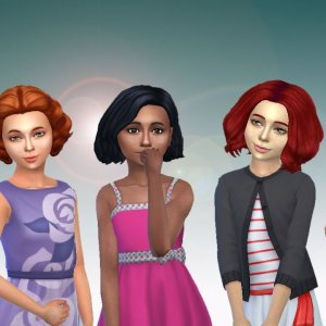 Girls Medium Hair Pack 5