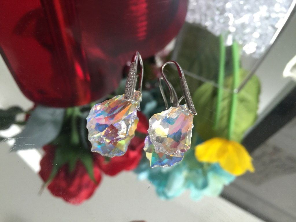 aurora borealis dangle earrings