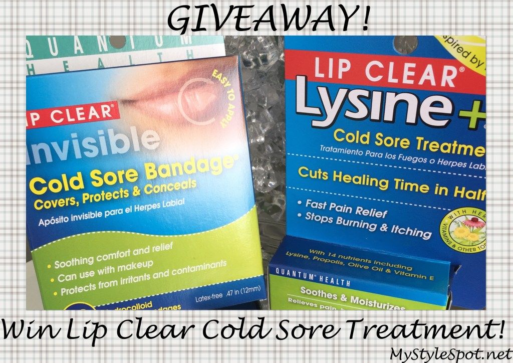 lip-clear cold sore treatment giveaway