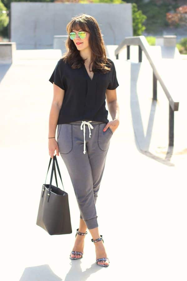 how to style jogger pants, american eagle jogger pant