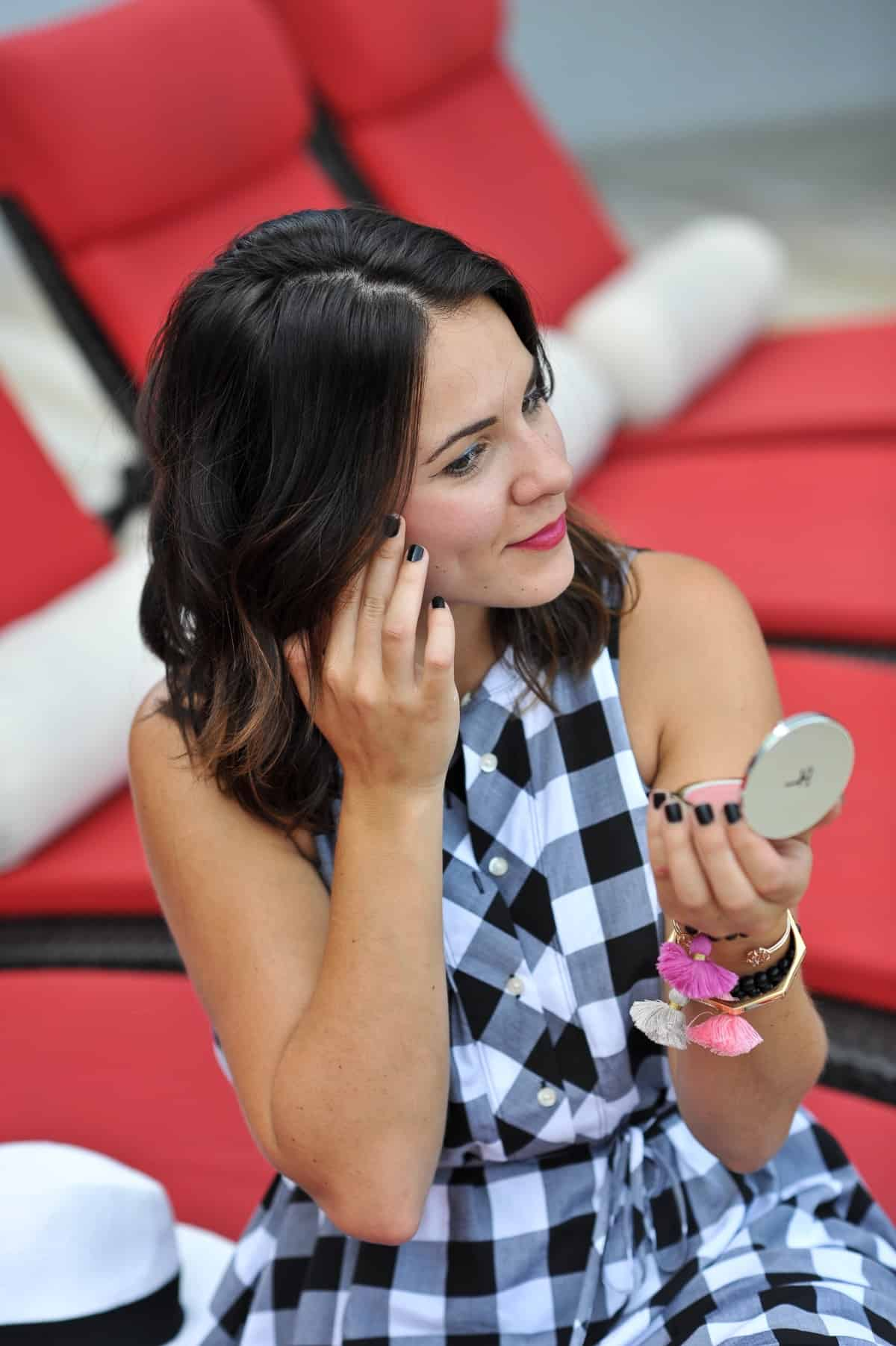 it cosmetics cream blush, dolce & gabbana primer for summer beauty, my style vita, summer beauty tips to beat the heat.