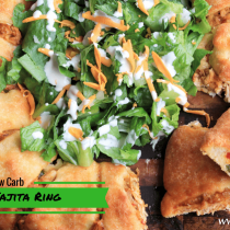 Low Carb and THM Friendly Chicken Fajita Ring is gluten and grain free and only 4 net carbs.