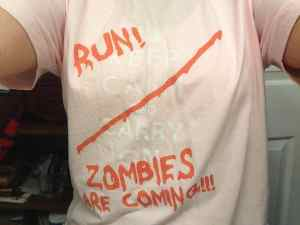 keep calm run zombies are coming shirt review from red bubble