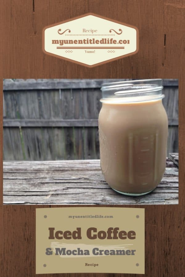 Homemade Mocha coffee creamer and iced coffee #recipe