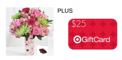 target and flowers giveaway