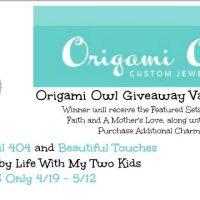 Origami Owl Giveaway 5/12 US