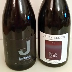 Tantalus Juveniles and Upper Bench Estate Winery Pinot Noir wines