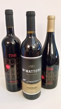 TIME Syrah, Meritage, and McWatters Collection Meritage wines