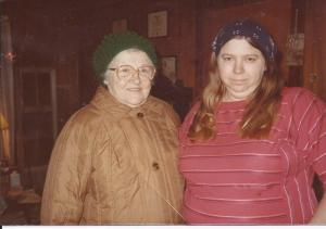 Aunt Amy and my mom in my early teen years