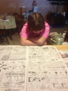 Reading the comics