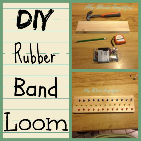 DIY rubberband loom