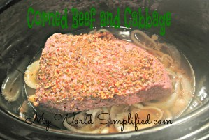 St. Patricks Day Dinner: Crockpot Corned Beef