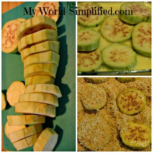 Eggplant slices