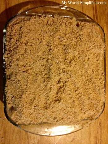 crumble topping for apple pie or apple betty