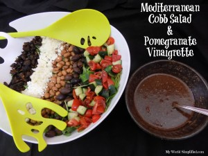 Mediterranean Cobb Salad Recipe  with Pomegranate Vinaigrette