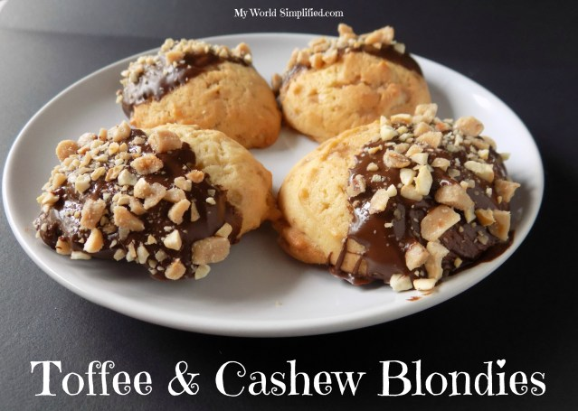 Toffee and Cashew Blondies