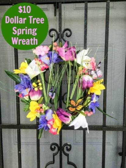 $10 Dollar Tree Spring Wreath