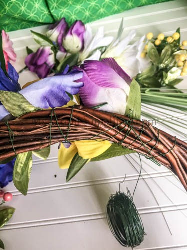Dollar Tree Spring Wreath-5