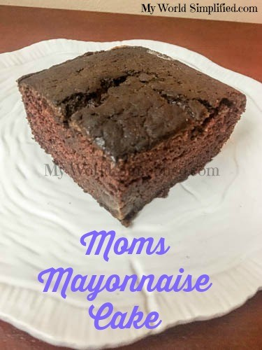 Moms Chocolate Mayonnaise Cake