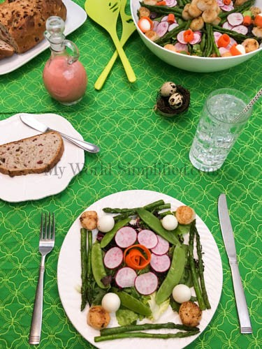 Spring Salad with Scallops-5