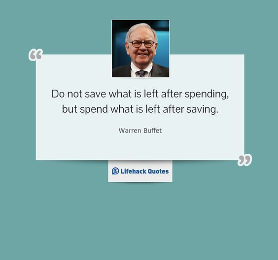 warren buffet save money quote