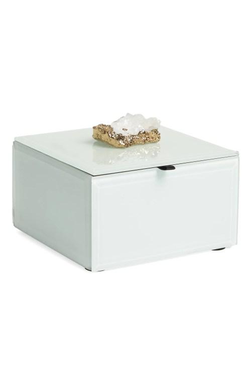 Medium Of White Jewelry Box