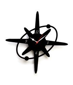 Flagrant Star Shaped Wall Clocks Panache Black Mdf Wood Round Wall Clock Round Designs Star Shaped Wall Clocks