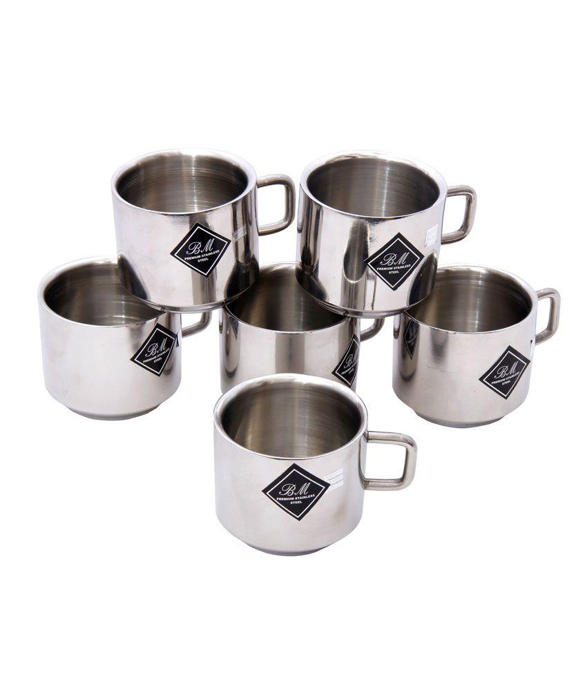 Arresting Bm Stainless Steel Coffee Mugs Set Metal Espresso Coffee Cups Starbucks Metal Coffee Cups Bm Stainless Steel Coffee Mugs Set Buy Online At Price furniture Metal Coffee Cups