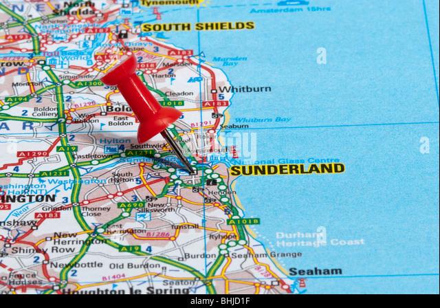 map sunderland city centre