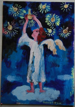 Ангел с лампочками
