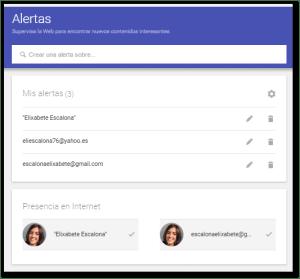Monitorizar tu nombre con Google Alerts paso 1