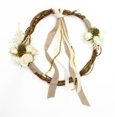 Bridesmaid hoop featured in Wedding Flowers and Accessories Magazine 2014