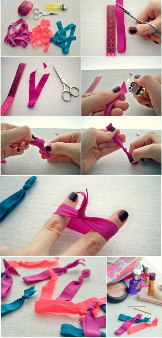 Как делать красивые резинки для волос