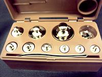 上皿天秤用検定付分銅