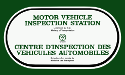 Motor Vehicle Inspection