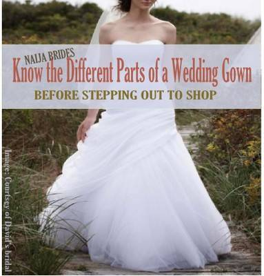 wedding gown parts