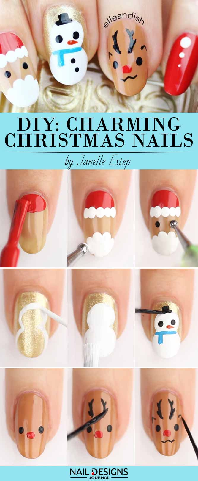 10 Charming Christmas Nail Art Tutorials You\'ll Adore - crazyforus