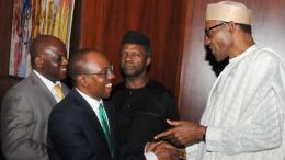 Osinbajo Emefiele and Buhari