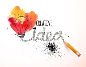 45067223 - creative idea loaded, vector concept for inspiration